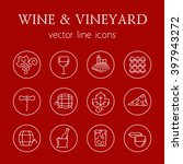 wine and vineyard line icons | Shutterstock .eps vector #397943272