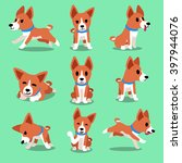 Cartoon Character Basenji Dog...