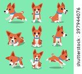 Cartoon Character Basenji Dog...