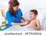 Pediatrician Doctor Examining...