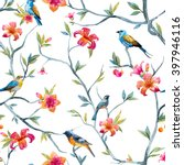 watercolor seamless pattern... | Shutterstock . vector #397946116