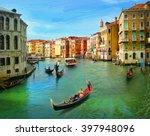 Venice  Italy. Illustration I...