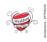 vector logo wedding | Shutterstock .eps vector #397948102