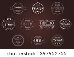 vintage badges white vector... | Shutterstock .eps vector #397952755