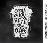 vector illustration of coffee... | Shutterstock .eps vector #397955212
