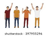 hands up man vector eps10 | Shutterstock .eps vector #397955296