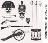 set of vintage napoleon empire...   Shutterstock .eps vector #397957342