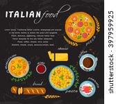 vector design italian food ... | Shutterstock .eps vector #397959925