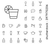 linear bar icons set. universal ...