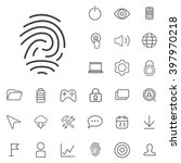 linear app icons set. universal ...