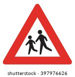 german warning sign about... | Shutterstock . vector #397976626
