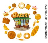 infographic bakery and bread... | Shutterstock .eps vector #397980592