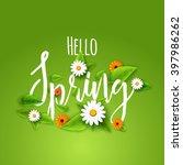 fresh spring background poster...   Shutterstock .eps vector #397986262