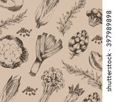 vector vegetable hand drawn...   Shutterstock .eps vector #397989898