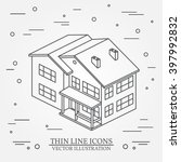 isometric house on white... | Shutterstock .eps vector #397992832
