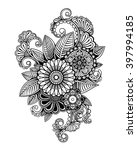 vector black and white tattoo... | Shutterstock .eps vector #397994185