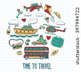 hand drawn images travel... | Shutterstock .eps vector #397994722