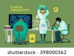 scientists in medical... | Shutterstock .eps vector #398000362
