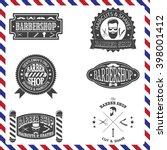 set of barber shop vintage... | Shutterstock .eps vector #398001412