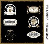 set of barber shop vintage...   Shutterstock .eps vector #398001418