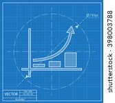 growing bars graphic blueprint... | Shutterstock .eps vector #398003788