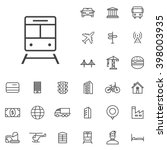linear city icons set....