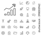 linear strategy icons set.... | Shutterstock .eps vector #398003962