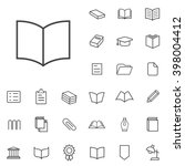 linear book icons set....