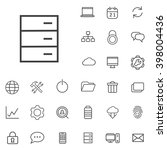 linear big data icons set....