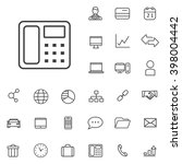 linear corporate icons set....