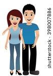 happy couple | Shutterstock .eps vector #398007886