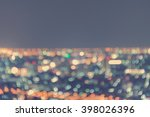 blur light city scape bokeh... | Shutterstock . vector #398026396