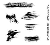vector set of grunge brush... | Shutterstock .eps vector #398026792
