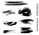vector set of grunge brush... | Shutterstock .eps vector #398026816