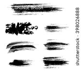 vector set of grunge brush... | Shutterstock .eps vector #398026888