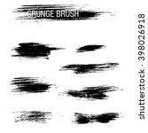 vector set of grunge brush... | Shutterstock .eps vector #398026918