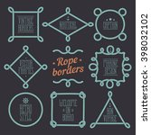 rope nautical vector borders... | Shutterstock .eps vector #398032102