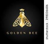 vector logotype. golden bee... | Shutterstock .eps vector #398036686
