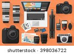 professional photographer... | Shutterstock .eps vector #398036722
