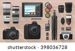 professional photographer... | Shutterstock .eps vector #398036728