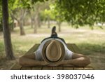Restful Young Man Wearing A...