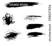 vector set of grunge brush... | Shutterstock .eps vector #398037856