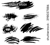 vector set of grunge brush... | Shutterstock .eps vector #398037886