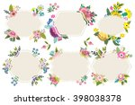 great set of flowers and labels. | Shutterstock .eps vector #398038378