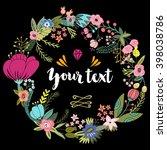 vector floral wreath. | Shutterstock .eps vector #398038786