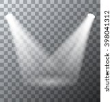 vector modern spotlights scene... | Shutterstock .eps vector #398041312