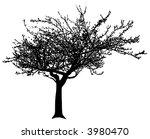 Black Vector Apple Tree