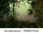 3d illustration of tropical... | Shutterstock . vector #398057026