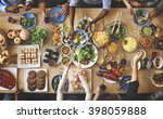 brunch choice crowd dining food ... | Shutterstock . vector #398059888