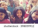 school children cheerful...   Shutterstock . vector #398059912